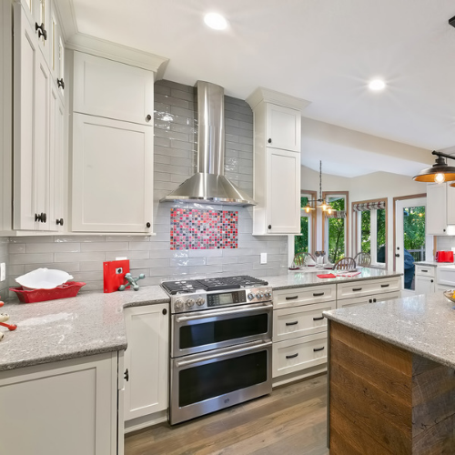 range hood in remodeled kitchen design